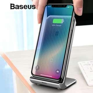 Baseus Intelligent Cooling Wireless Charger Desktop Multifunction Wireless Charging Pad For iPhone X
