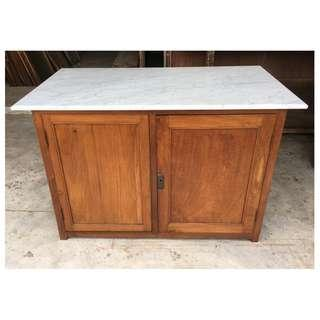 Kitchen Island Cabinet with Italian Marble Top
