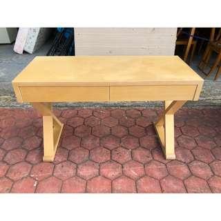 香榭二手家具*松木交叉腳 4尺書桌-美甲桌-寫字桌-電腦桌-辦公桌-櫃台桌-洽談桌-工作桌-會計桌-餐桌-台中2手貨回收