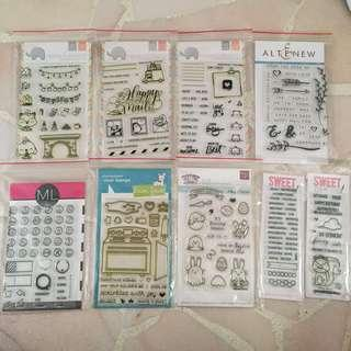 🚚 QYORP Photopolymer Clear Stamps for Scrapbooking/ Cards: MOVING OUT SALE