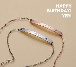 [PO] Red Velvet Irene Birthday Bracelet SM Official