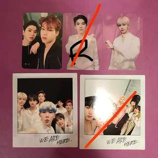 WTS / WTT Monsta X Take 2 We Are Here Photocards (Group / Unit / Transparent)