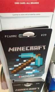 Minecraft gift card