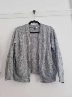 H&M Grey Bomber Soft Ribbed Jacket size M 12 #SwapAU
