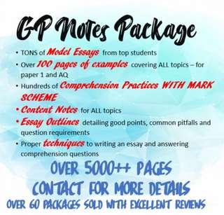 A Level GP Notes Package
