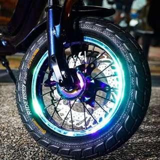 20 SPOKES Colored Spoke Rim 12inch for AM, DYU and Fiido Electric Scooter Escooter