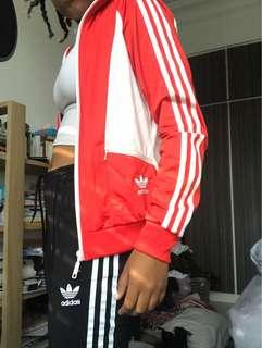 Adidas Classic Jacket 3 Stripes Red
