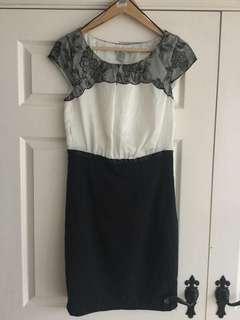 H&M Lace Midi Work Dress