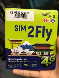 🚚 8 Days Asia & Australia Data Sim Card Unlimited Data 1st 4GB 4G Speed