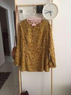 yellow floral top
