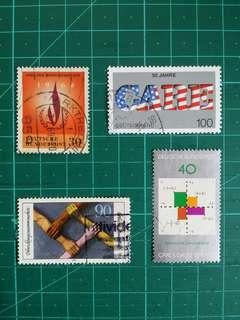 [贈品]1960-90年代 西德 紀念舊票四套