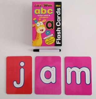 Flash card ABC lowercase with marker