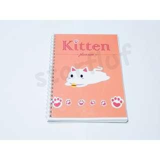 Weekly Planner Kitten Planner Kucing Lucu Imut A5