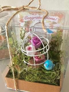 Congratulations! ☆ Pink -Preserved Flower Box-