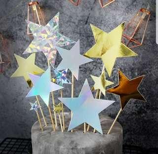 🚚 (3 for $9) Shiny Star Topper Set