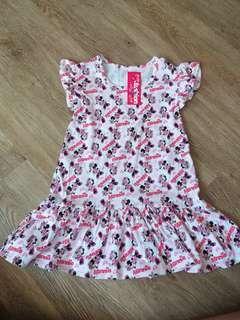 Minnie soft cotton dress 6t(no caroupay)