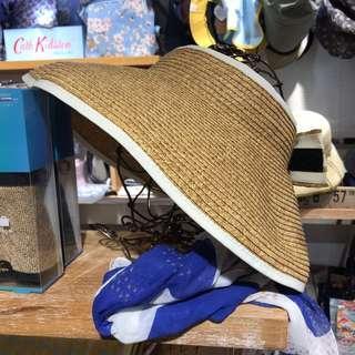Woven sun visor hat 太陽帽