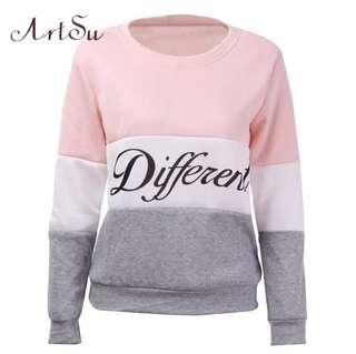 🚚 (PO) S-XL 2019 Autumn and winter women fleeve hoodies printed letters Different women's casual