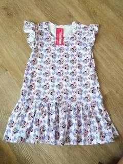 Minnie/Daisy soft cotton dress 6t(no caroupay)