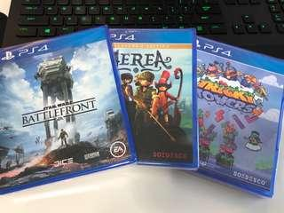 NEW PS4 Games Battlefront, Aerea and Tricky Towers