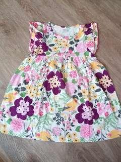 Gymboree floral cotton dress 7t(no caroupay)