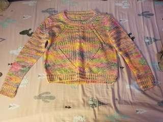 彩色針織衫