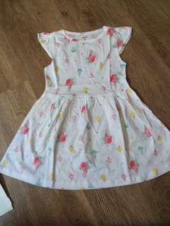 Carters ice cream cotton dress 4t(no caroupay)