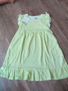 Carters polkadot cotton dress 7t(no caroupay)