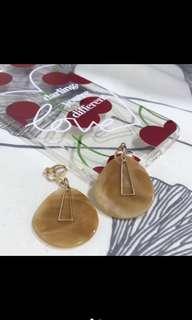 🚚 垂直風 夾式耳環