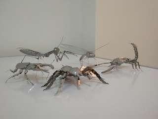 #MakeSpaceForLove Bugs Series 3D Metal Model Each (Ready Assembled)