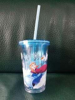 迪士尼 Disneyland Frozen Elsa Anna 水杯 水壺 飲管杯