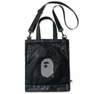 [In Stock] Japanese Magazine - A Bathing Ape Mesh Shoulder Bag + Pouch