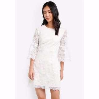 ZALORA Beige Lace Dress