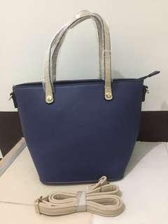Blue, 2 way bag