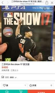 🚚 The show 17 ps4🎮⚾️