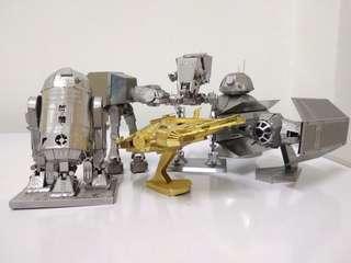 #MakeSpaceForLove Star Wars Series 3D Metal Model Each (Ready Assembled)