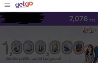 7000 getgo points +500 getgo peso+