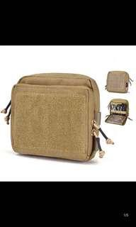 🚚 Durable Lightweight Molle Admin Pouch EDC Military Magazine Pouch with Removable Clear Map Cover Pocket