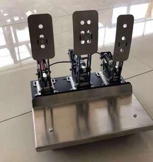只限PC! DIY 油門剎車離合套裝 腳踏 踏板 Pedals 極力子 Logitech g29 g27 Thrustmaster Fanatec