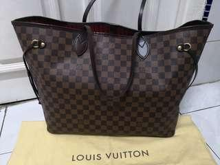 Preloved Authentic LV Neverfull GM