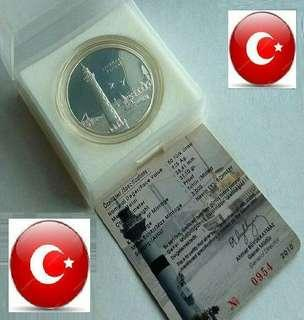 👉 TURKEY - 1 Troy Oz+ (999) Fine Silver Proof coin