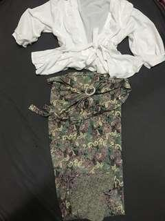 Baju undangan + rok lilit