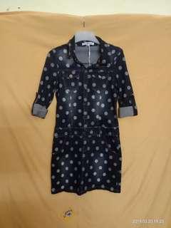 *NEW* Polka Dot Denim Inspired Dress