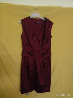 Ladies Dark Maroon Dress