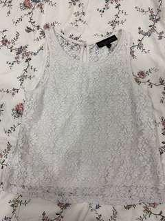 🚚 TOPSHOP WHITE LACE TOP