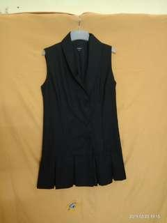 Mojito Black Tuxedo Inspired Dress