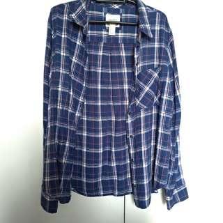 Forever 21 Blue Checkered Polo