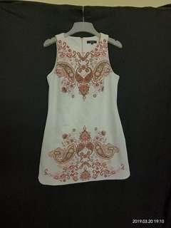 Nichii White Printed Dress
