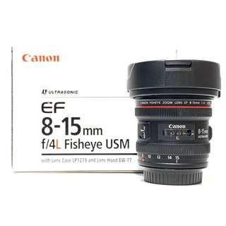 Canon EF 8-15mm F4L Fisheye USM Lens