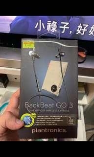 Plantronics Back Beat Go 3 藍牙無線耳機 九成新 已過保養